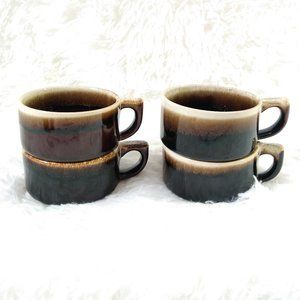 Pfaltzgraff Gourmet Brown Drip Glaze Coffee Mugs